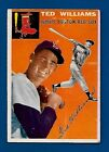1954 Topps # 1 Ted Williams  HOF  Boston Red Sox  VG/EX  Additional Ship Free