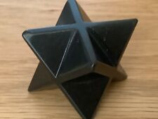 Shungite Merkaba Star 30mm. Ezekiels Wheel, Meditation.Sacred Geometry, EMF 5G