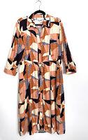 Anthropologie Corey Lynn Calter Abstract Shirtdress Medium Women's