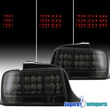 For 2005-2009 Ford Mustang LED Tail Stop Sequential Signal Lights Smoke