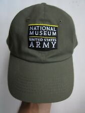 NATIONAL MUSEUM UNITED STATES ARMY STRAPBACK HAT CAP, OD, FOUNDING SPONSOR, EXC
