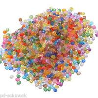 500 Mix Acryl Böhmen Facettiert Rund Spacer Perlen Beads Bicone Rhombe 6mm !