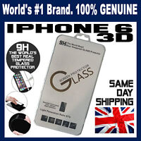 100% Real Genuine Tempered Glass Screen protector for apple iPhone 6 & 6s  3D