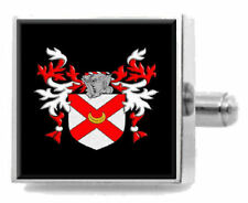Yale England Heraldry Crest Sterling Silver Cufflinks Engraved Message Box