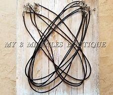 "Real Leather Cord NECKLACE Thin 2mm DIY 17"" 18"" Wholesale Bulk Lot Plain Empty"
