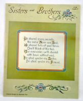 VINTAGE 1980 SISTERS & BROTHERS SAMPLER COUNTED CROSS STITCH LEAFLET PATTERN