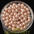 New 144pcs 8mm Round Czech Glass Pearl Loose Spacer Beads Pearl Pink