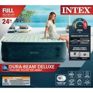 "Intex 24"" Dream Lux Pillow Top Dura-Beam Airbed Mattress with Internal Pump"