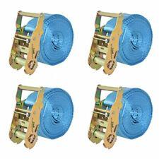 vidaXL 4x Spanband 2 Ton 6 m x 38 mm Blauw Sjorband Spangordel Bagagegordel