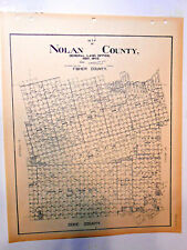 Old Nolan County Texas Land Office Owner Map Blackwell Roscoe Sweetwater Decker