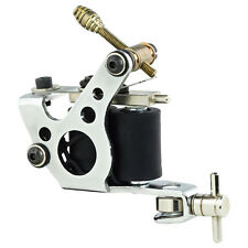 NEW Pro Tattoo Machine Gun Dual 10-Wrap Coils Set for Liner & Shader Steel Frame