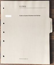 Digital Dec Ultrix Guide To System Shutdown And Startup 1991
