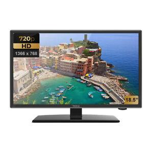 """TECO 18.5"""" LED HD TV DC 12V 240V CARAVAN USB RECORDING HDMI VGA FREE CAR PLUG"""