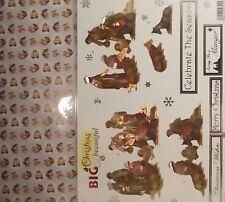 Craft UK Big & Beautiful reflexiones Navidad Die Cut Decoupage - 775 Pesebre Natividad