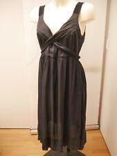 Zara woman taille L 42/44 robe noire points blancs poitrine cache-coeur féminine