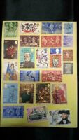 STAMP COLLECTION  ON  PAGE  - Great Mix of issues.(w1).