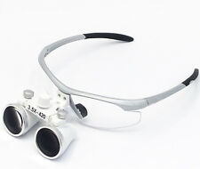 Dental Optical Binocular Loupe 3.5X420mm Silver for Dentistry Surgical&Medical