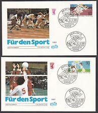 Berlin FDC 664 - 665 auf 2 Briefe - Sporthilfe