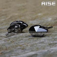 New Gift Mens & Womens Tungsten Carbide Heart Stud Earrings C12