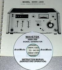 WAVETEK 3000-200 Service & Operating Manual, (very good schematics)