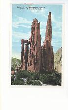 Ruins of Montezumas Temple   Garden of The Gods  CO  Unused  Postcard 12313