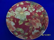 "Classic Floral Red Flower Party 10.5"" Banquet Plates"