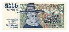 ICELAND 5000 KRONUR 1961 PICK 53 AUNC