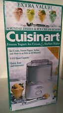 Cuisinart CIM-20PC Frozen Yogurt Ice Cream Sorbet Maker (Bonus scooper & dishes)