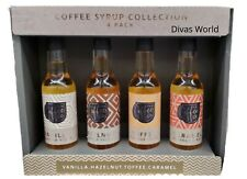 Coffee Syrup Collection Vanilla Caramel Toffee Hazelnut Flavour Pack Of 4 x 85ml