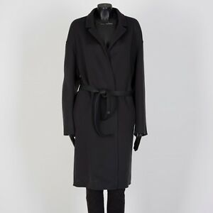 LORO PIANA 6275$ Cocoon Coat With Waist Belt In Soft Black Cashmere