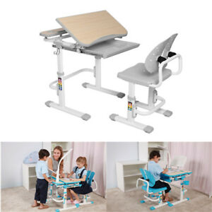 Children's Desk & Chair Set Child Kids Study Drawing Table Set as Christmas Gift