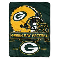 Green Bay Packers 60x80 Plush Raschel Throw Blanket - Prestige Design [NEW]