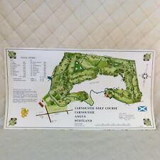Carnoustie Golf Course Scotland Survey Map 1968 Izatt UK Golf Design Services