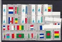 United Nations Flags Mint Never Hinged Stamps  ref R 18282
