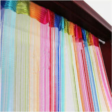 Colorful Door Window Panel Room Divider Fly Screen Curtain String Strip Tassel