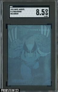 1992 Impel Marvel Hologram Wolverine SGC 8.5 NM-MT +