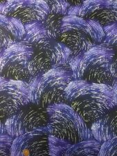 The Cosmos Aurora Cm5278 Blue Silver 100% Cotton Quilt Craft Fabric Benartex
