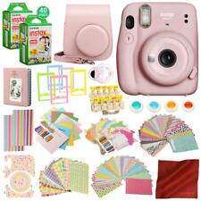 FUJIFILM INSTAX Mini 11 Instant Film Camera (Blush Pink) with 168 Piece Bundle