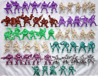 Post Apocalyptic army, 58 toy soldiers, 54 mm, Tehnolog, soft plastic, New