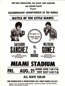 SALVADOR SANCHEZ vs WILFREDO GOMEZ 8X10 PHOTO BOXING PICTURE MIAMI STADIUM