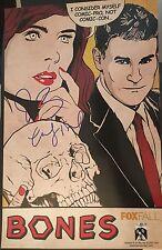 BONES 11x17 FOX TV Signed Poster SDCC 2011 Comic Con Boreanaz Deschanel