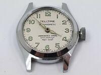 Vintage TellTime Mechanical Gentleman's Wrist Watch for Repair, Vintage Watch