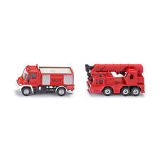 "SIKU 1661 "" Fire Set "" Unimog + Cran Truck Red (Blister Pack) Model Car NEW! °"
