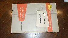 September 1961 Bushnell Wildwood Florida Telephone Directory Phone Book