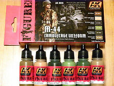 AK Interactive M-44 Camouflage Uniform Acrylic Paint Set For Brush/Airbrush