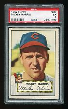 VINTAGE - 1952 - TOPPS - MICKEY HARRIS - CLEVELAND INDIANS - #207 - PSA 5 - EX