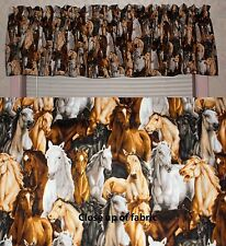 New Horse Horses Pony Animals Country Living House Valances Curtains