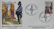 ENVELOPPE PREMIER JOUR - 9 x 16,5 cm - 1970 - JOURNEE DU TIMBRE - FACTEUR 1830