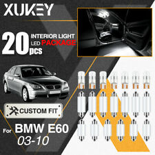 For BMW 5 Series E60 LED Interior Map Dome Lights Kit License Plate Bulbs 20Pcs