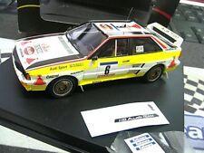 AUDI Quattro Blomqvist Rallye Tour de Corse 1984 Trofeu incl Decals H B 1:43